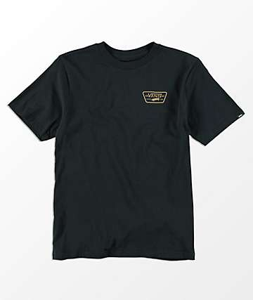 Vans Boys Full Patch Back Black & Dirt T-Shirt