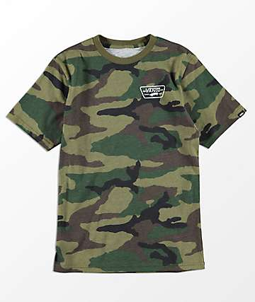 Vans Boys Full Patch Back Camo T-Shirt