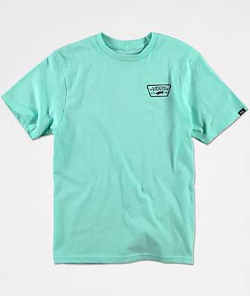 Vans Boys Full Patch Back Mint T-Shirt