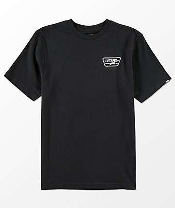 Vans Boys Full Patch Black T-Shirt