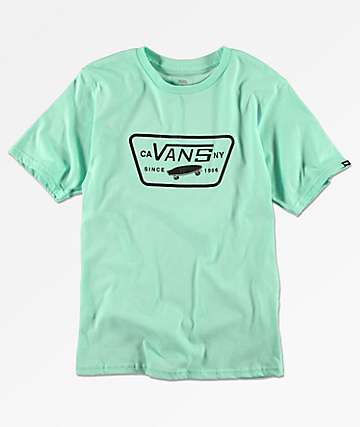 Vans Boys Full Patch Mint T-Shirt