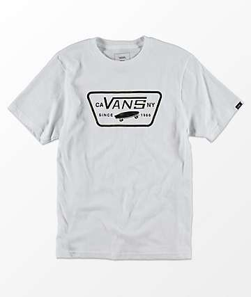 Vans Boys Full Patch White & Camo T-Shirt