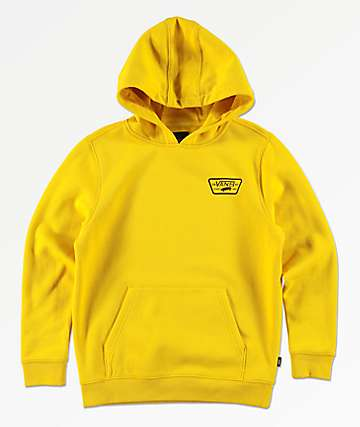 Vans Boys Full Patch Yellow Hoodie