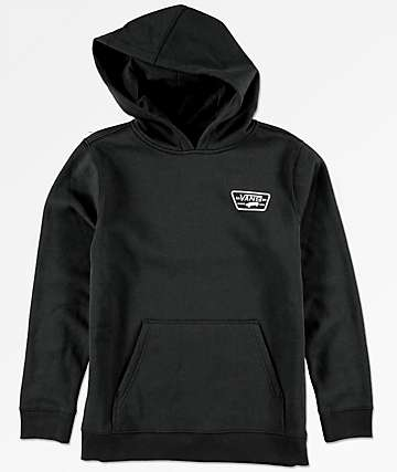 Vans Boys Full Patched Black Hoodie