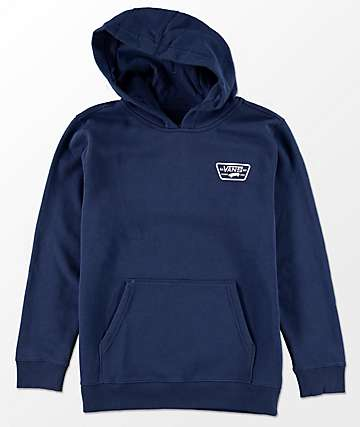Vans Boys Full Patched Dress Blue Hoodie