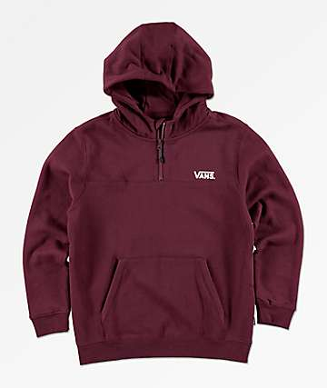 Vans Boys Logo Quarter Zip Port Royale Hoodie