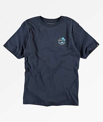 Vans Boys Mini Dual Palm Blue T-Shirt