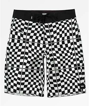 Vans Boys Mixed Black & White Checkerboard Board Shorts