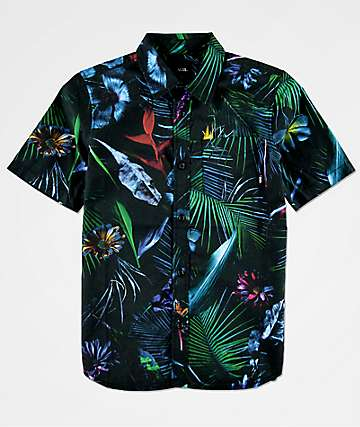 Vans Boys Neo Jungle Black Woven Shirt