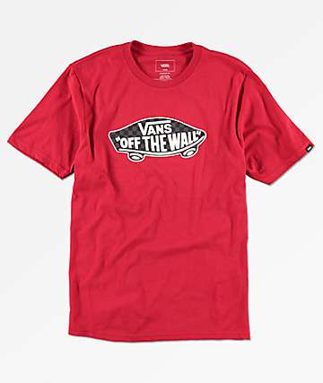 Vans Boys OTW Checkerboard Cardinal Red T-Shirt
