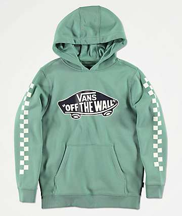 Vans Boys Off The Wall Check Oil Blue Hoodie