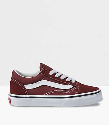 Vans Boys Old Skool Andorra & White Skate Shoes