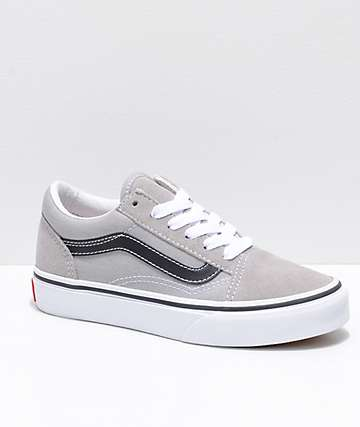Vans Boys Old Skool Grey & Black Shoes