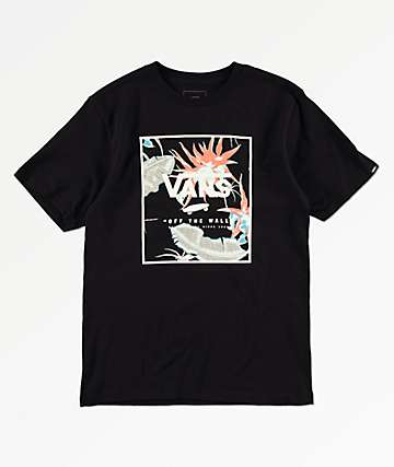 Vans Boys Print Box Arachnofloria & Black T-Shirt