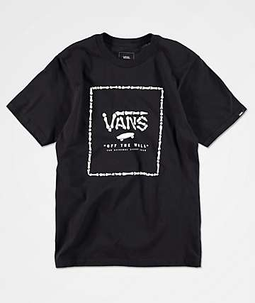 Vans Boys Print Box Boneyard Black T-Shirt