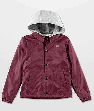 Vans Boys Riley Port Royale Hooded Coaches Jacket