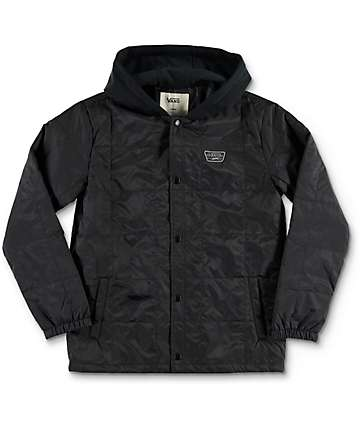 Vans Boys Santiago III Black Jacket