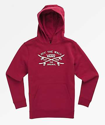 Vans Boys Skate Lock Up Burgundy Hoodie