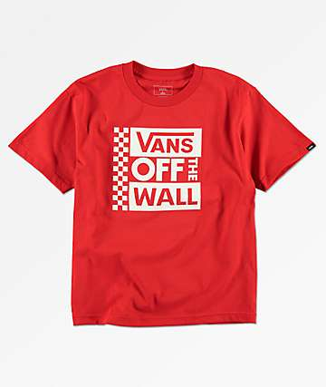 Vans Boys Stacked OTW Red T-Shirt