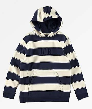Vans Boys Tall Box Logo Blue & White Hoodie