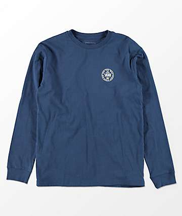 Vans Boys The OG 66 Dress Blue Long Sleeve T-Shirt