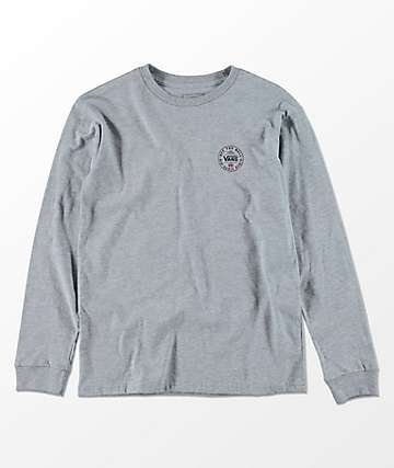 Vans Boys The OG 66 Heather Grey Long Sleeve T-Shirt