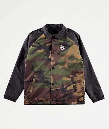 38972947f1 Vans Boys Torrey Camo Coaches Jacket