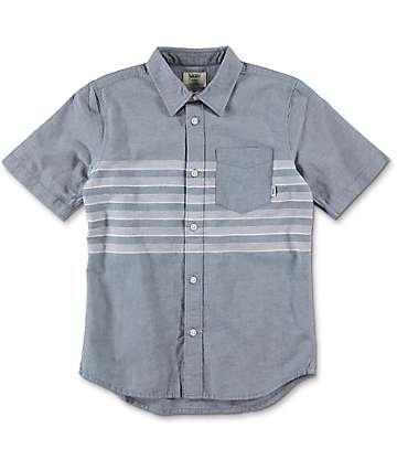 Vans Boys Wallace Blue Button Up Shirt