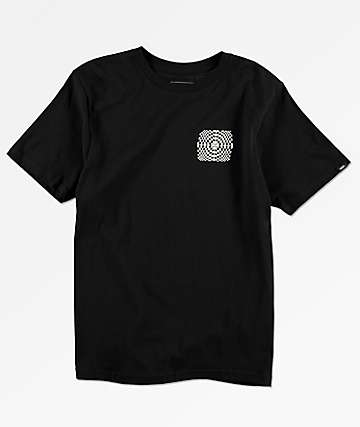 Vans Boys Warped Check Black T-Shirt