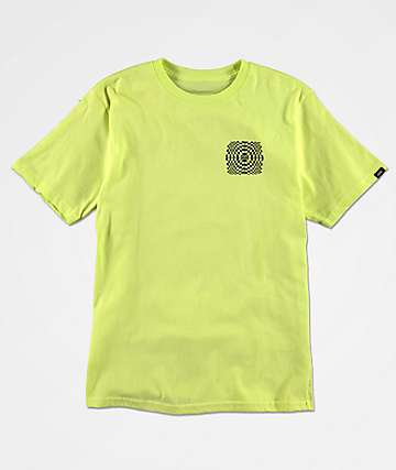 Vans Boys Warped Check Sun Yellow T-Shirt