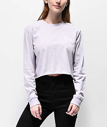Vans Brush Off Evening Haze Crop Long Sleeve T-Shirt