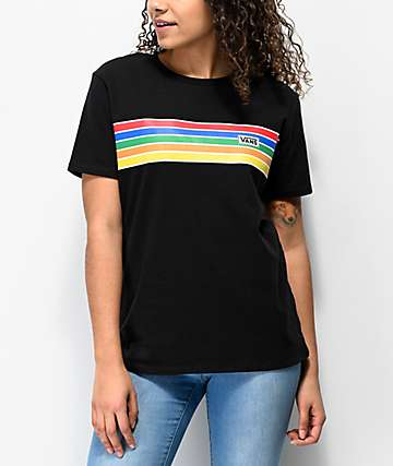 Vans Bursted Stripe Black T-Shirt