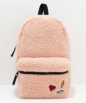 Vans Calico Sherpa Peach Backpack