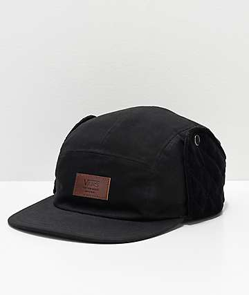 Vans Camper Flap Black Five Panel Hat