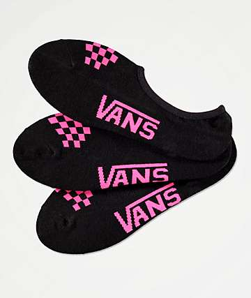 Vans Canoodle Black & Pink 3 Pack No Show Socks