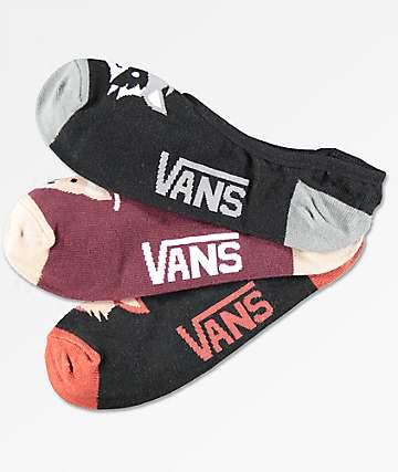 Vans Canoodle Critters 3 Pack No Show Socks
