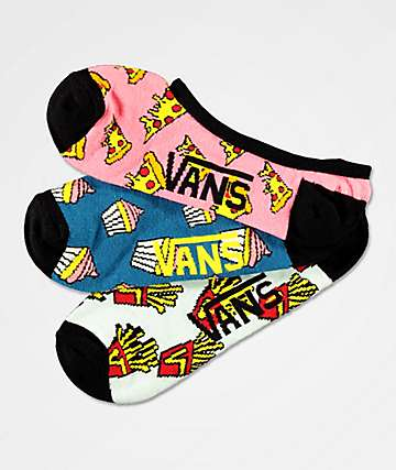 Vans Canoodle Munch Much 3 Pack No Show Socks