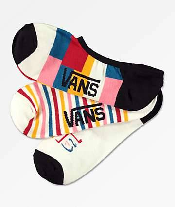 Vans Canoodle Patched Up 3 Pack No Show Socks