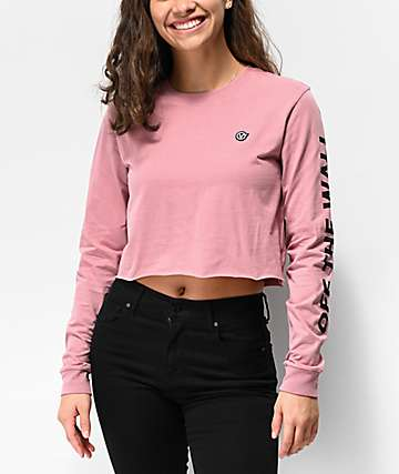Vans Castmore Rose Long Sleeve Crop T-Shirt
