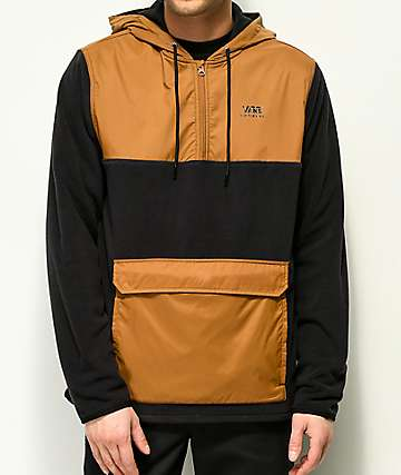 Vans Chadbourne Black & Brown Tech Fleece Anorak Jacket
