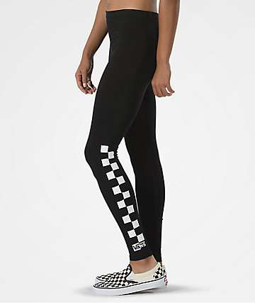 Vans Chalkboard Check Black Leggings