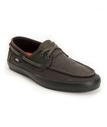 Vans Chauffeur Black Boat Skate Shoes