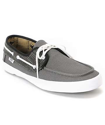 Vans Chauffeur Pewter & Black Boat Skate Shoes