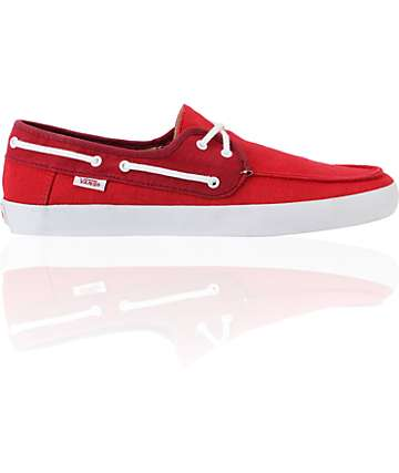 Vans Chauffeur Red Boat Skate Shoes