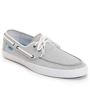 Vans Chauffeur Stripe Black & Cyan Boat Skate Shoes