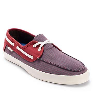 Vans Chauffeur Striped Russet Brown Boat Skate Shoes