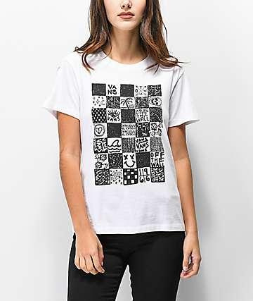 Vans Check Doodle White T-Shirt