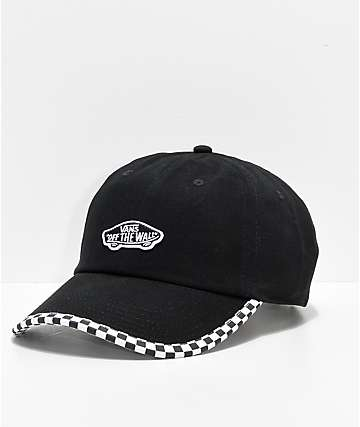 Vans Check It Black   Checkerboard Strapback Hat c00e3f765828