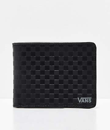 Vans Checkerboard Black & Black Bifold Wallet