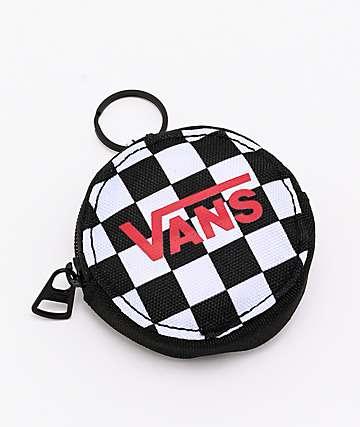 Vans Checkerboard Black & White Keychain Coin Purse